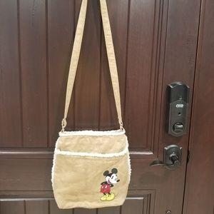Handbags - Mickey Mouse Crossbody bag brown suede